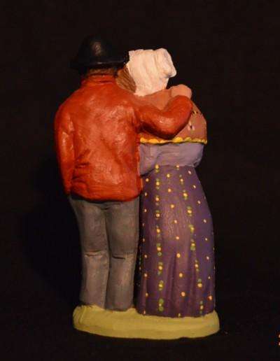 121d statue le froid 10 cm peint de dos
