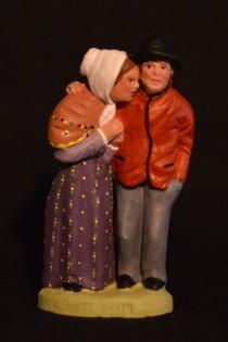 121d statue le froid 10 cm peint de face
