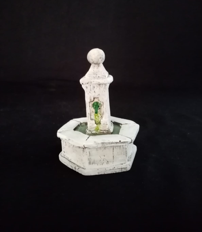 fontaine boule hexagonale