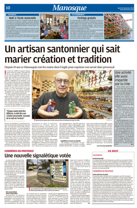 article la provence un artisan santonnier qui sait marier création et tradition
